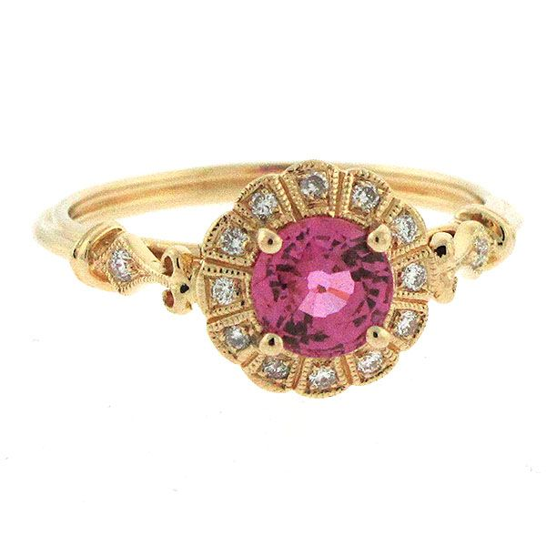 Pink Sapphire and Diamond Ring Goldstein's Jewelers Mobile, AL
