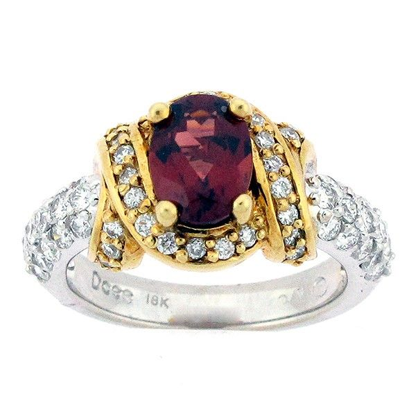 Garnet and Diamond Ring Goldstein's Jewelers Mobile, AL