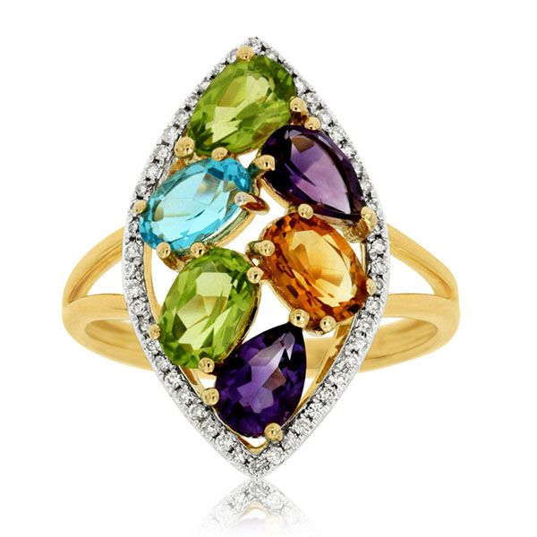 Colored Stone Ring Goldstein's Jewelers Mobile, AL