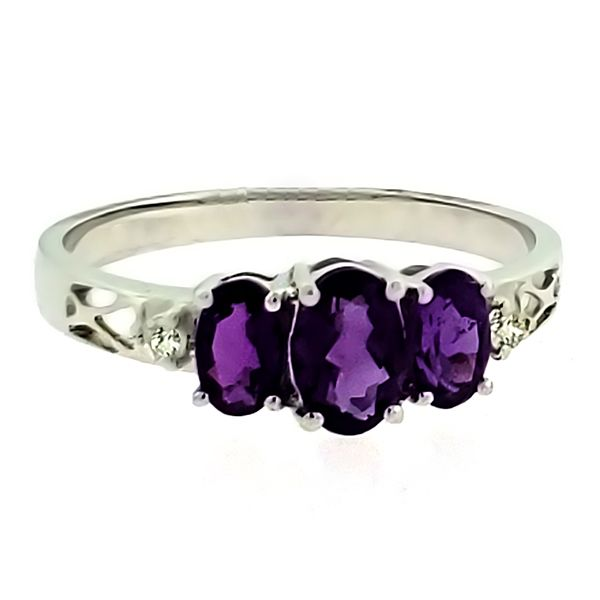 Amethyst and Diamond Ring Goldstein's Jewelers Mobile, AL