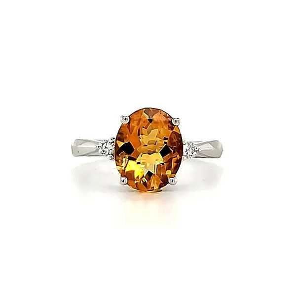 Citrine and Diamond Ring Goldstein's Jewelers Mobile, AL