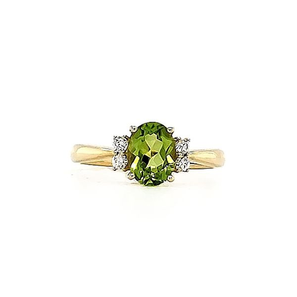 Peridot and Diamond Ring Goldstein's Jewelers Mobile, AL
