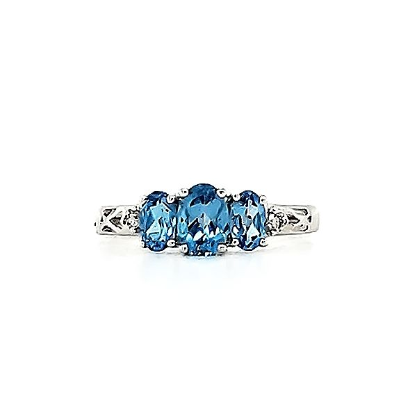 Blue Topaz and Diamond Ring Goldstein's Jewelers Mobile, AL