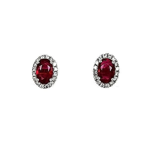 Ruby and Diamond Earrings Goldstein's Jewelers Mobile, AL