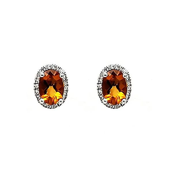 Citrine and Diamond Earrings Goldstein's Jewelers Mobile, AL