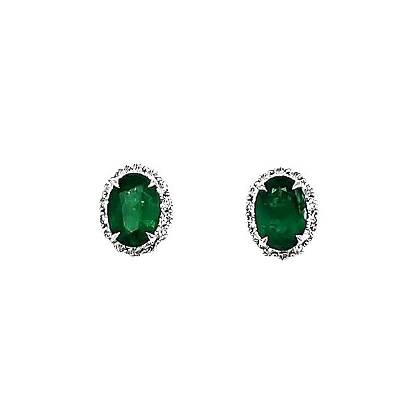 Emerald and Diamond Earrings Goldstein's Jewelers Mobile, AL