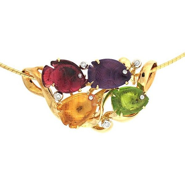 Colored Stone Necklace Goldstein's Jewelers Mobile, AL