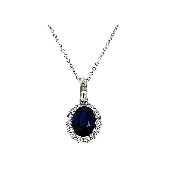 Sapphire and Diamond Pendant Goldstein's Jewelers Mobile, AL