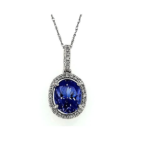 Tanzanite and Diamond Necklace Goldstein's Jewelers Mobile, AL