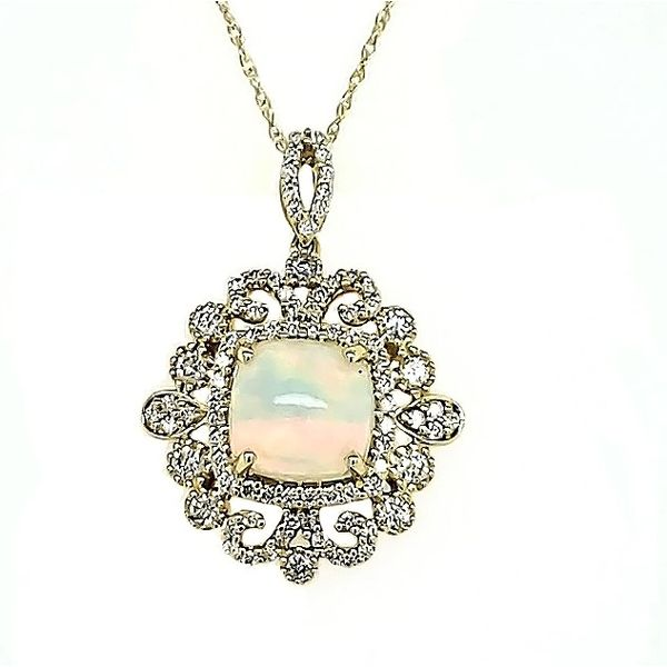 Opal and Diamond Pendant Goldstein's Jewelers Mobile, AL