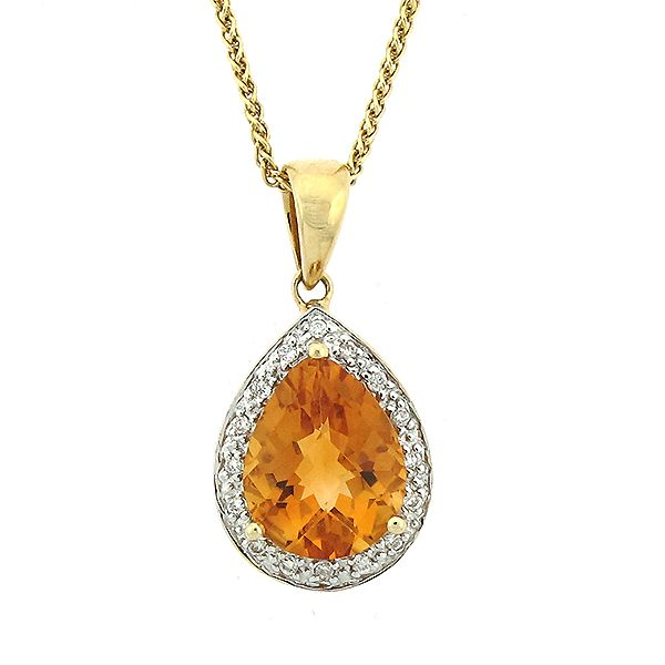 Citrine and Diamond Pendant Goldstein's Jewelers Mobile, AL