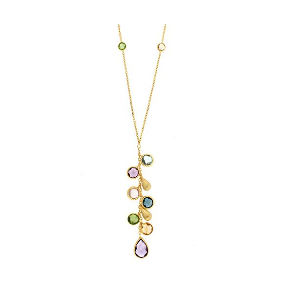 Multi-stone Drop Necklace Goldstein's Jewelers Mobile, AL