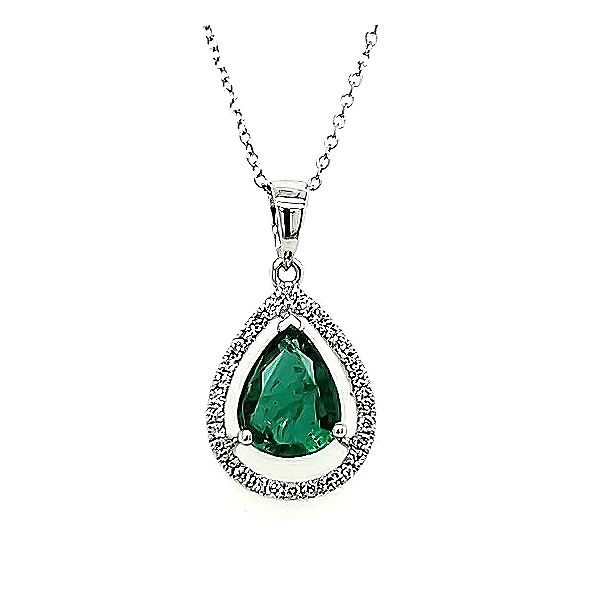 Emerald and Diamond Pendant Goldstein's Jewelers Mobile, AL
