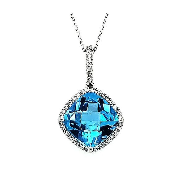 Blue Topaz and Diamond Pendant Goldstein's Jewelers Mobile, AL