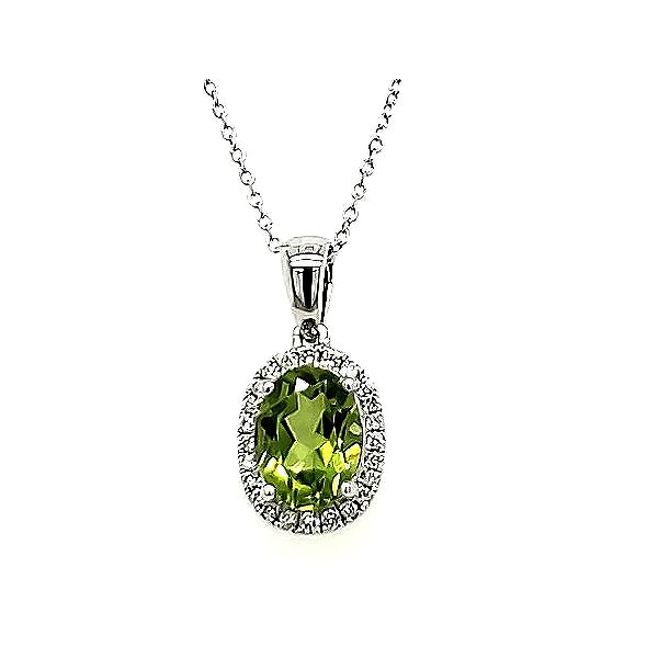 Peridot and Diamond Pendant Goldstein's Jewelers Mobile, AL