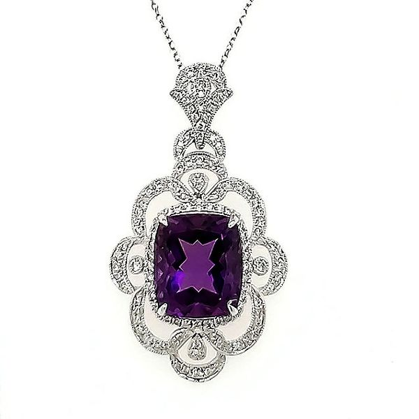 Amethyst and Diamond Fancy Pendant Goldstein's Jewelers Mobile, AL