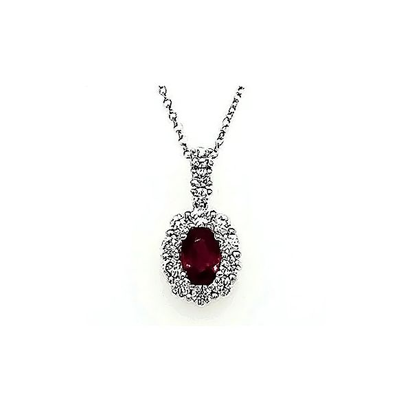 Ruby & Diamond Necklace Goldstein's Jewelers Mobile, AL