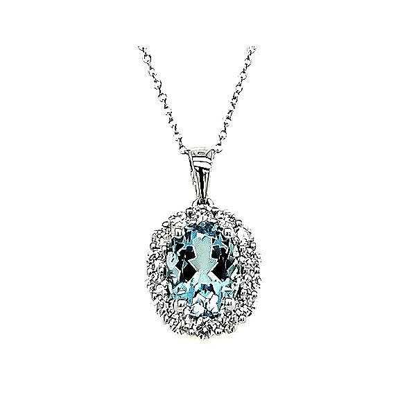 Aquamarine and Diamond Necklace Goldstein's Jewelers Mobile, AL