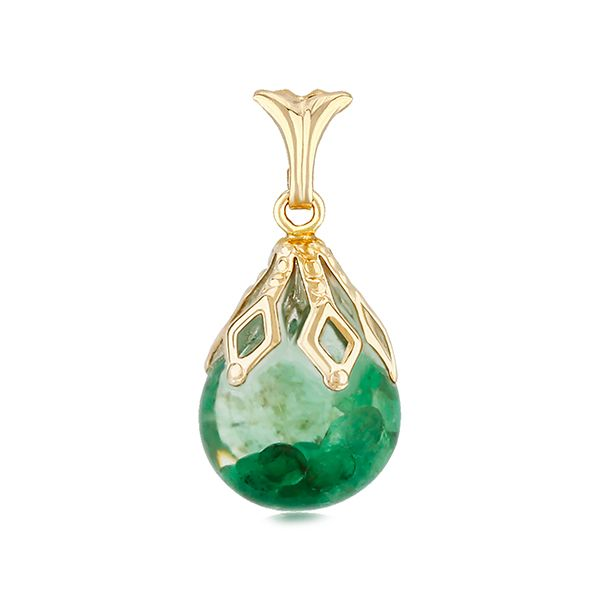 Floating Emerald Necklace Goldstein's Jewelers Mobile, AL