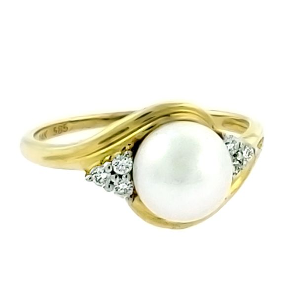 Pearl and Diamond Ring Goldstein's Jewelers Mobile, AL