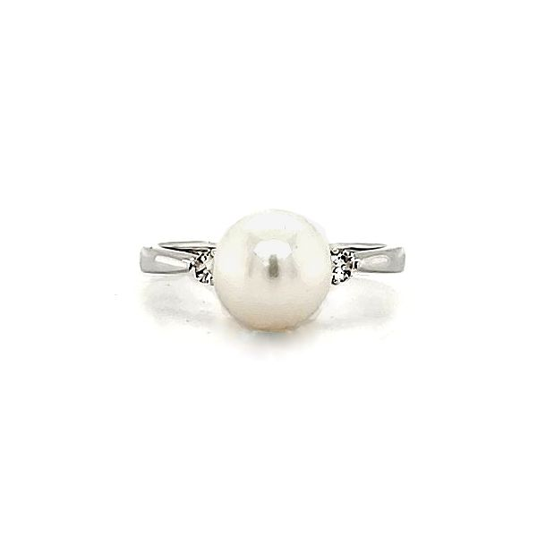 Freshwater Pearl and Diamond Ring Goldstein's Jewelers Mobile, AL