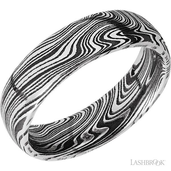 Damascus Steel Marbled Band Goldstein's Jewelers Mobile, AL