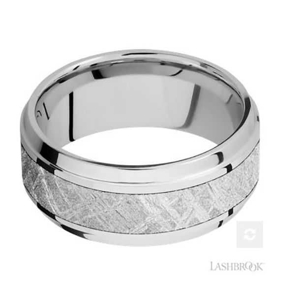Cobalt Chrome and Meteorite Band Image 3 Goldstein's Jewelers Mobile, AL