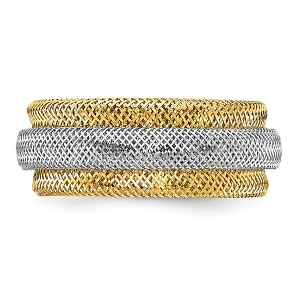 Two-tone Stretch Ring Goldstein's Jewelers Mobile, AL
