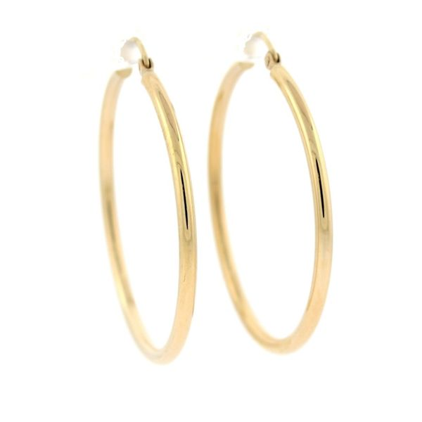 Large Hoop Earrings Goldstein's Jewelers Mobile, AL