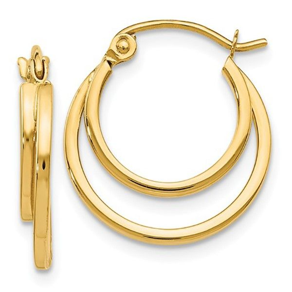 Double Hoop Earrings Goldstein's Jewelers Mobile, AL