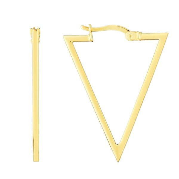 Triangle Hoop Earrings Goldstein's Jewelers Mobile, AL