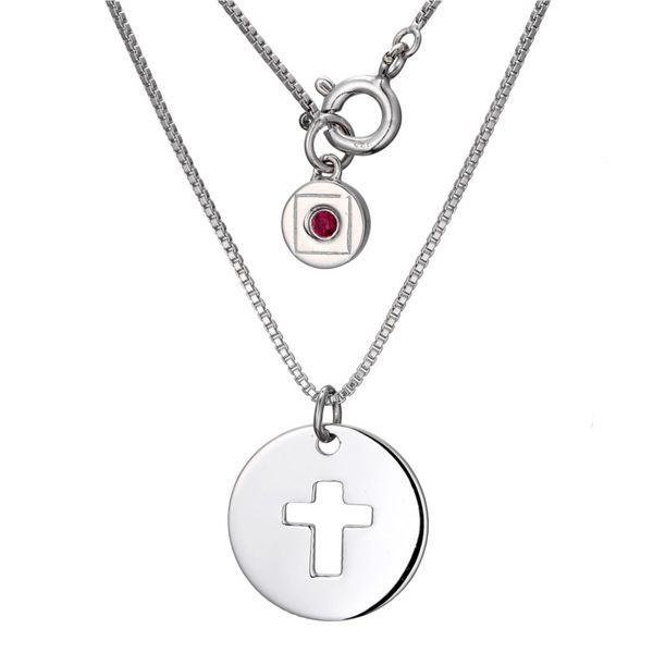 Elle Cross Disc Necklace Goldstein's Jewelers Mobile, AL