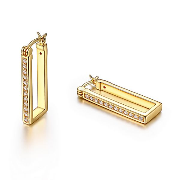 Elle Square Hoop Earrings Goldstein's Jewelers Mobile, AL