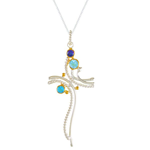 Michou Waterdance Cross Necklace Goldstein's Jewelers Mobile, AL