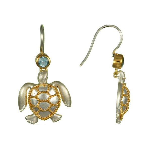 Michou Poseidon's Treasures Sea Turtle Earrings Goldstein's Jewelers Mobile, AL