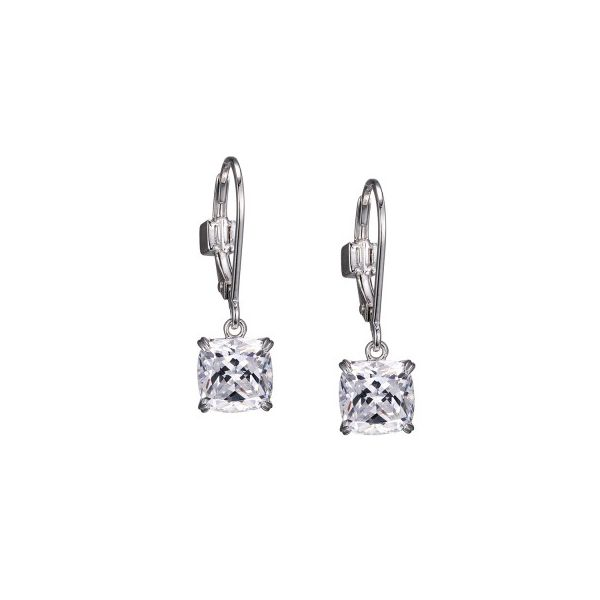 Elle Cushion Shape Drop Earrings Goldstein's Jewelers Mobile, AL