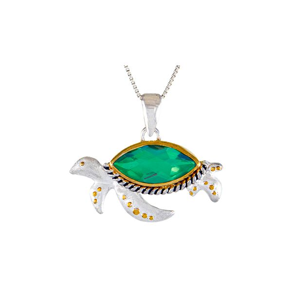 Michou Poseidon's Tresures Turtle Necklace Goldstein's Jewelers Mobile, AL
