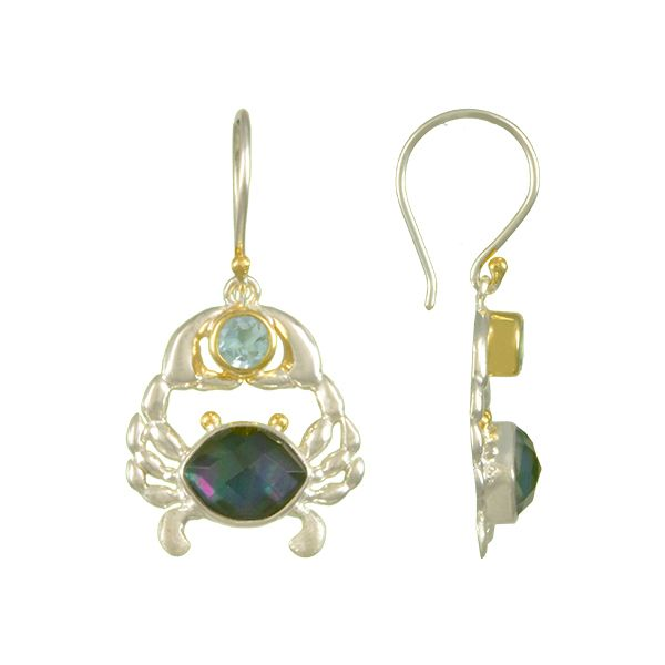 Michou Poseidon's Treasures Crab Earrings Goldstein's Jewelers Mobile, AL