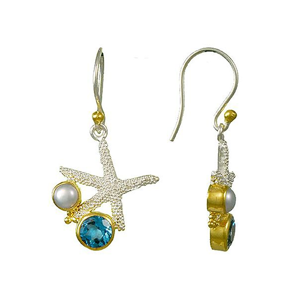 Michou Poseidon's Treasures Starfish Earrings Goldstein's Jewelers Mobile, AL