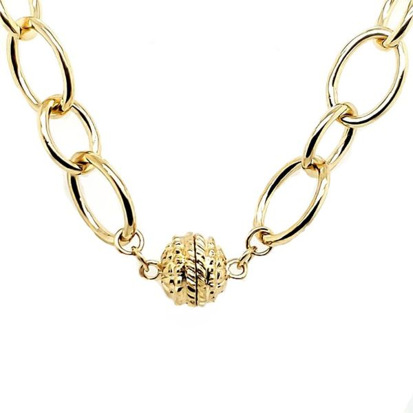 Open Link Necklace Image 2 Goldstein's Jewelers Mobile, AL