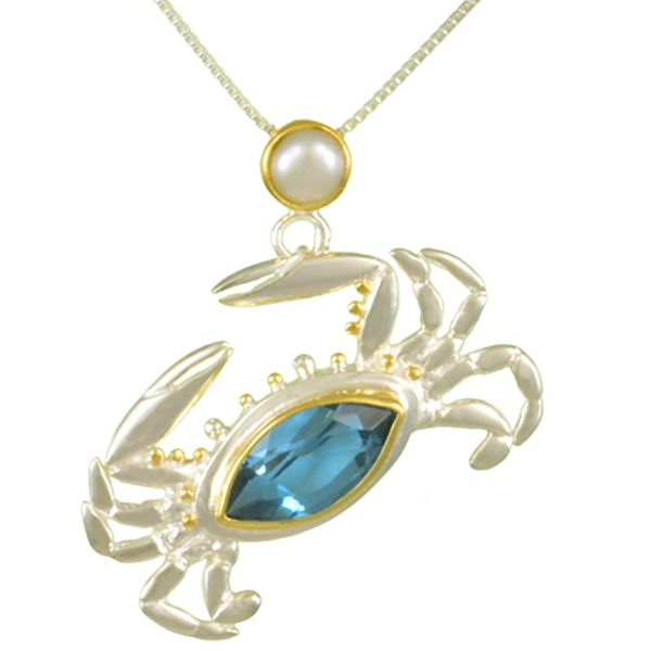 Michou Poseidon's Treasures Crab Necklace Goldstein's Jewelers Mobile, AL