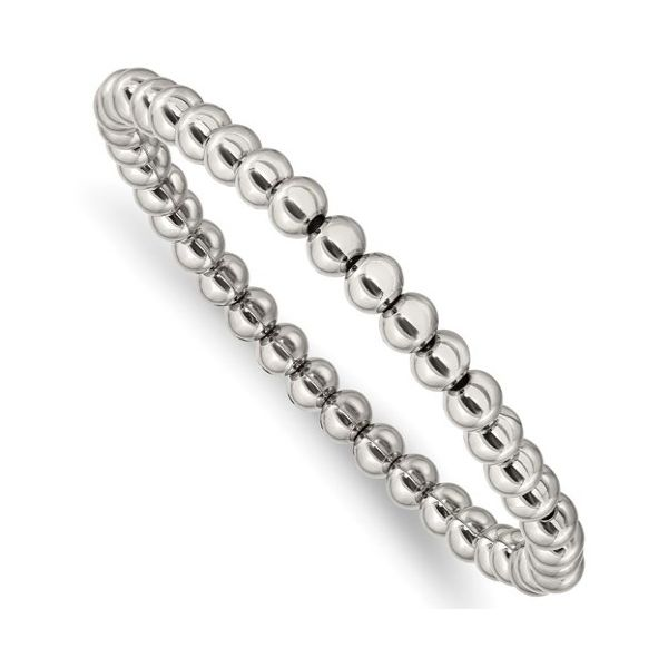 Stainless Steel Stretch Bead Bracelet Goldstein's Jewelers Mobile, AL