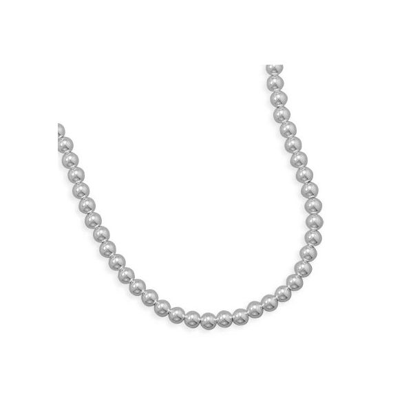 Sterling Silver Bead Necklace Goldstein's Jewelers Mobile, AL