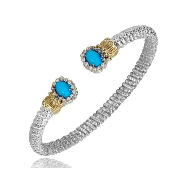 Vahan Turquoise and Diamond Bracelet Goldstein's Jewelers Mobile, AL