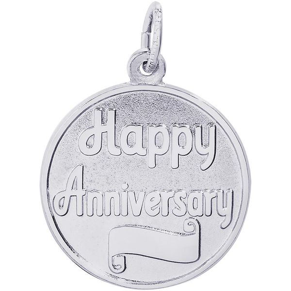 Happy Anniversary Disc Charm Goldstein's Jewelers Mobile, AL
