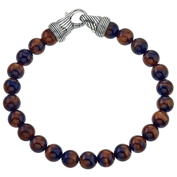 Esquire Tiger's Eye Beaded Bracelet Goldstein's Jewelers Mobile, AL