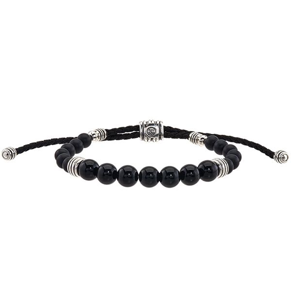 Esquire Onyx Beaded Bolo Bracelet Goldstein's Jewelers Mobile, AL