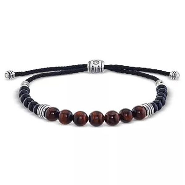 Esquire Tiger's Eye Beaded Bolo Bracelet Goldstein's Jewelers Mobile, AL
