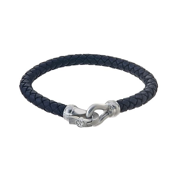 Esquire Woven Leather Bracelet Goldstein's Jewelers Mobile, AL