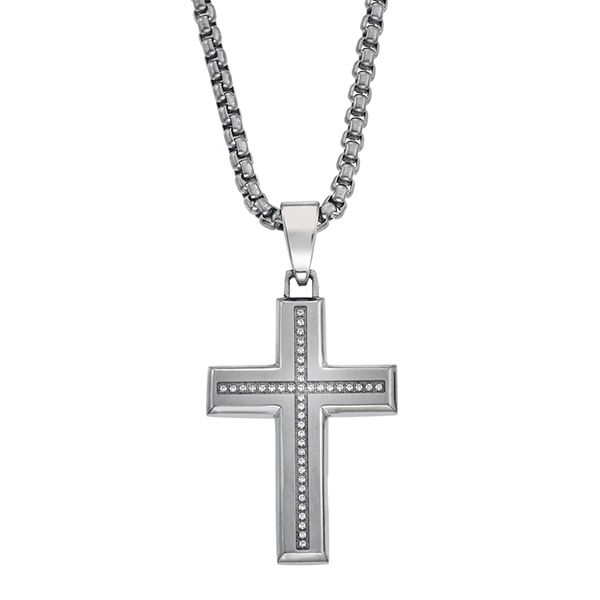 Esquire Diamond Cross Necklace Goldstein's Jewelers Mobile, AL